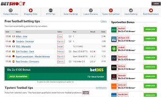 BetShoot Tip & Site Infos