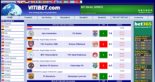 Vitibet Predictions of the Day feature